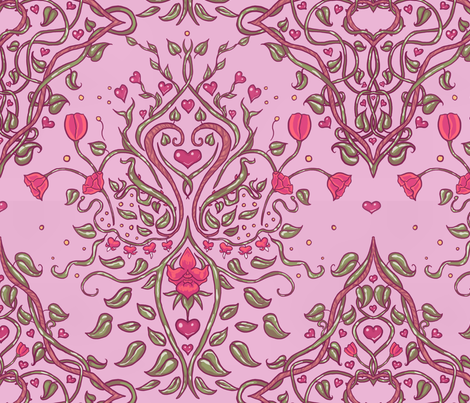Valentine Damask3 fabric by amber_morgan on Spoonflower - custom fabric
