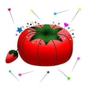 Tomato pin cushion 8x8 swatch