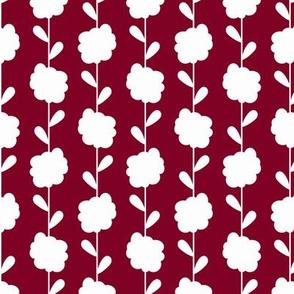 Scandi Flowers - Pink and Orange - Flower Stripe Coordinate