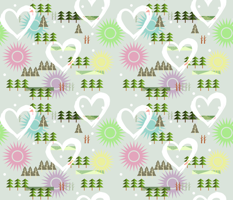 winter_love fabric by isabella_asratyan on Spoonflower - custom fabric