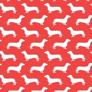 Dachshund Breed - Weiner dog fabric - red