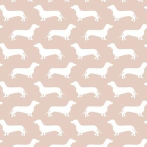 Dachshund Breed - Weiner dog fabric - blush