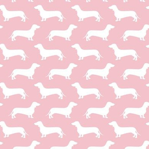 Dachshund Breed - Weiner dog fabric - pink