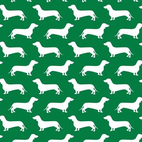 Dachshund Breed - Weiner dog fabric - green