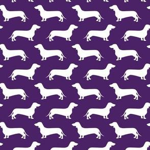Dachshund Breed - Weiner dog fabric - dark purple