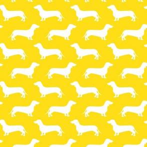 Dachshund Breed - Weiner dog fabric - yellow