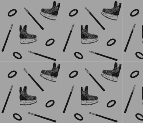 ringette - large fabric by courtneyrosedesign on Spoonflower - custom fabric