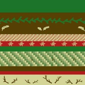 Country Yuletide Stripe | Retro Festive