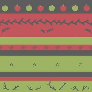 Winter Picnic Stripe | Cider Apple