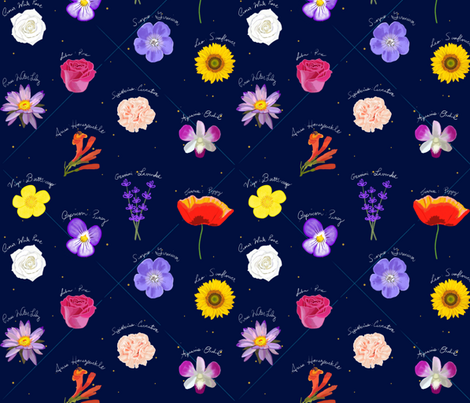 What Flower Is Your Sign? fabric by teawithxanthe on Spoonflower - custom fabric