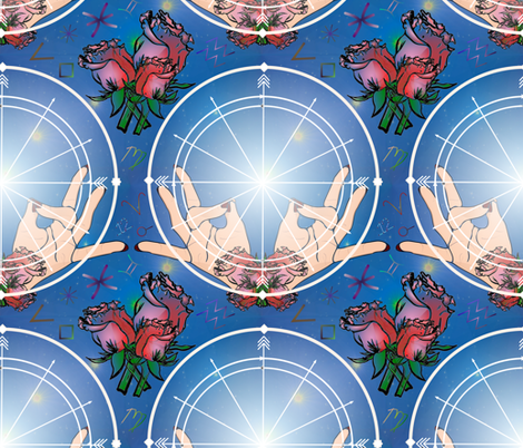 Stargazing the Natal Chart (Astrology) fabric by iadesigns on Spoonflower - custom fabric