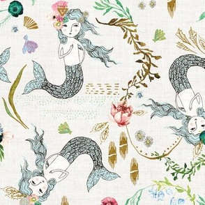 Atlantis Mermaids (white)