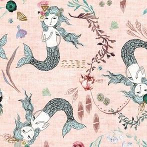 Atlantis Mermaids (shell pink)
