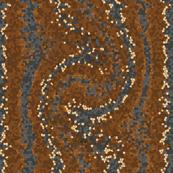 Coffee Cream Gray Snakeskin Mosaic