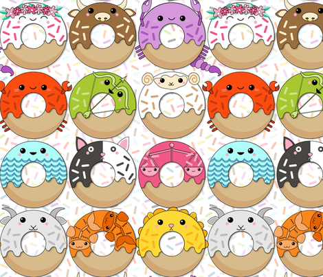 When All the Donuts Align fabric by nanshizzle on Spoonflower - custom fabric