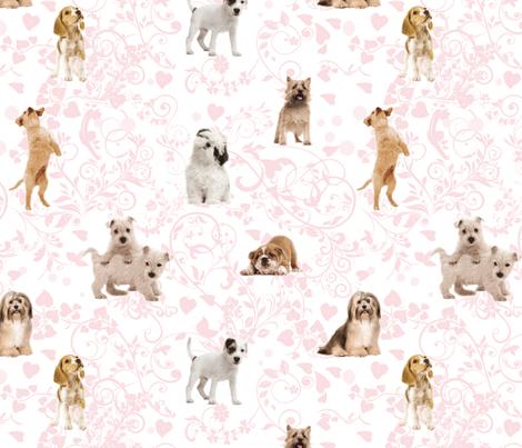 Puppy Love - My Dog, My Valentine. fabric by xxgingerxx on Spoonflower - custom fabric