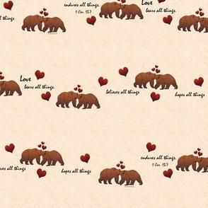 Rustic Love Bears All Things on Cream