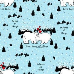 Polar Bears Love Bible Verse Blue