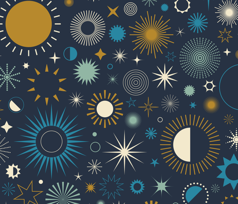 Age of Aquarius fabric by katerhees on Spoonflower - custom fabric