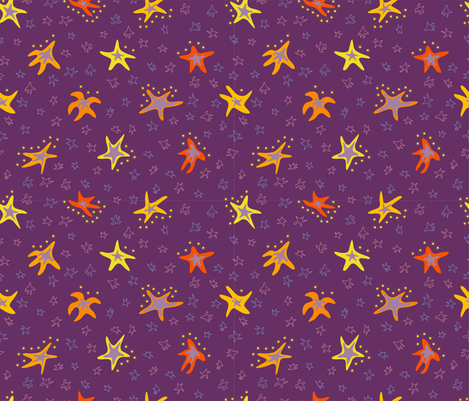 Bright constellations fabric by inna_alborova on Spoonflower - custom fabric