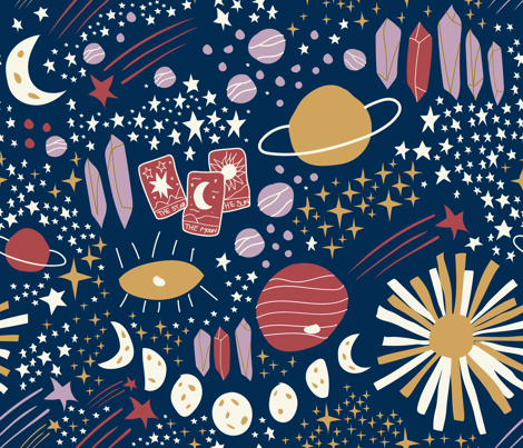 Written in the Stars fabric by leticia_marie on Spoonflower - custom fabric