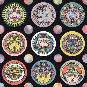 navagraha – nine smiling faces