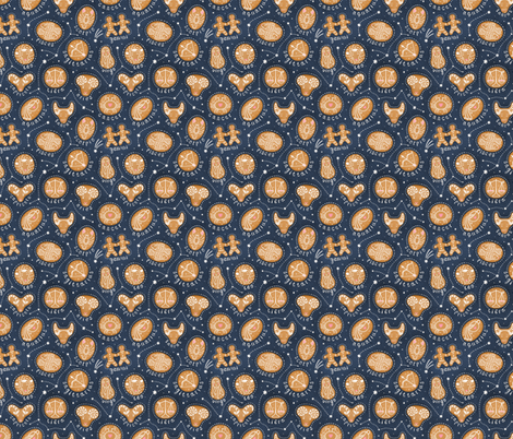 Delicious zodiac signs fabric by julia_gosteva on Spoonflower - custom fabric