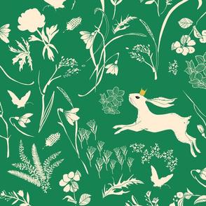 Enchanted Bunny Prince (emerald) LRG