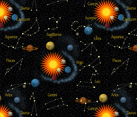 astrology fabric by dessineo on Spoonflower - custom fabric
