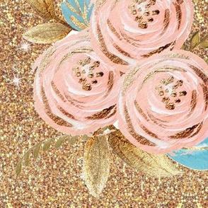 blush rose gold glitter LARGE