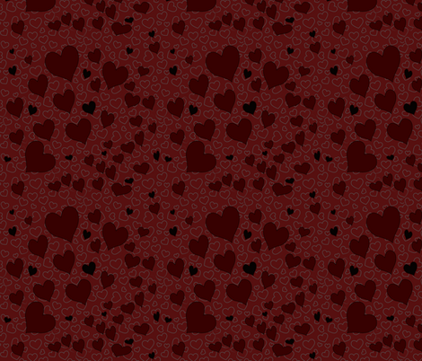 hearts fabric by flutterbi on Spoonflower - custom fabric