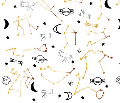 Astrology  Pattern fabric by bruxamagica on Spoonflower - custom fabric