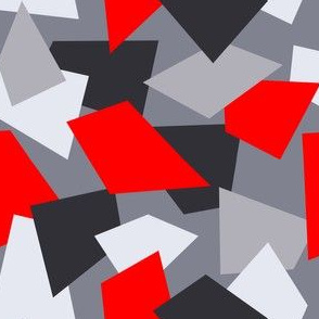 Red and Gray Geometric Shapes