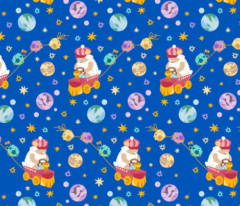 CY. Astrology challenge. Aries fabric by cotsy_yard on Spoonflower - custom fabric