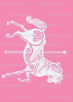 Carousel Horse in Ravishing Rose Rotated