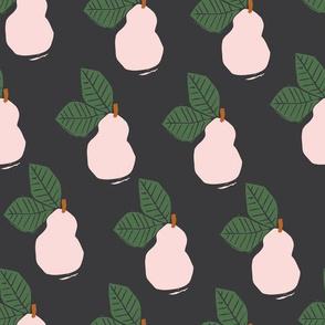 Linocut Pear | Black