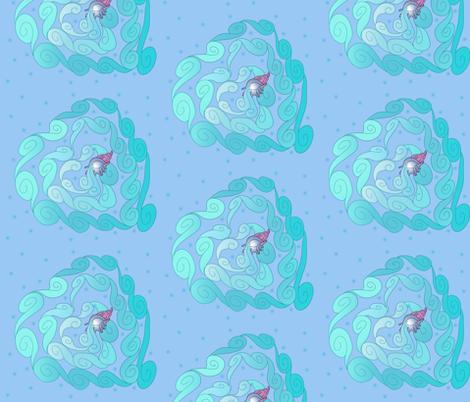 Heart Aquarius fabric by kimi_compassion on Spoonflower - custom fabric