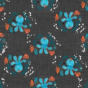 Under the Sea Octopus - Dark Gray