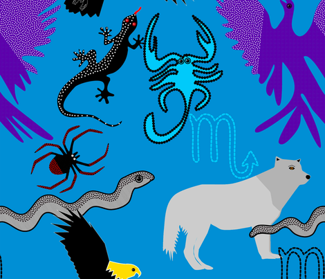 the evolution of the scorpio zodiac sign fabric by goodart_17 on Spoonflower - custom fabric