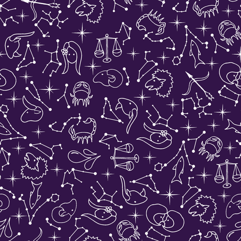 Hey, What's Your Sign? fabric by jewelraider on Spoonflower - custom fabric
