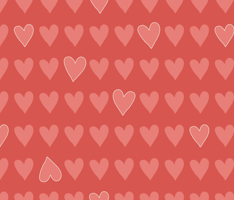 Love-is-in-the-air_Spoonflower fabric by mildreddot on Spoonflower - custom fabric