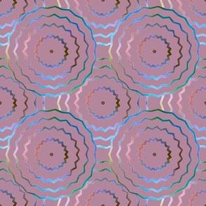 Kaleidoscope Plasma Rings on Pink