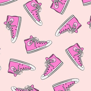 Retro Shoes - pink on pink toss - Chucks
