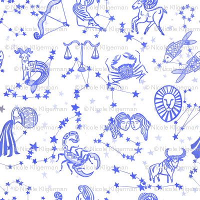 Blue Astrology Zodiac Signs