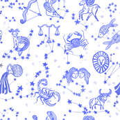 Blue Astrology Zodiac Signs