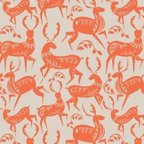 Dancing deer coral / orange