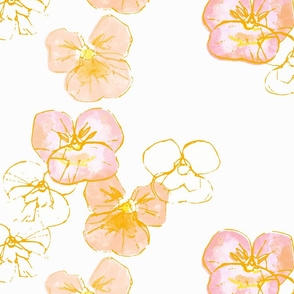 Violets - silk