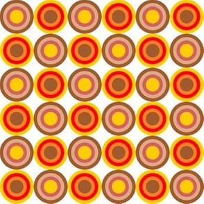 70s center circles orange red