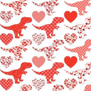 Valentine's Day Dinos and Hearts