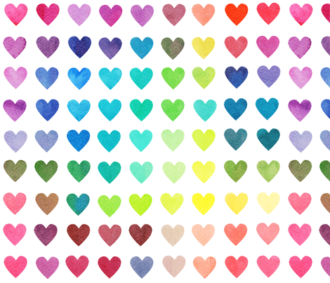 Colour Chart Hearts fabric by emeryallardsmith on Spoonflower - custom fabric